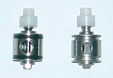 Upravený (vlevo) a standartní ventil